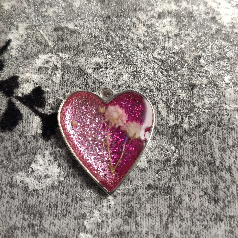 Pink szív női nyaklánc