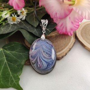 Purple rozetta ovális nyaklánc