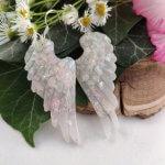 Babypink szárny fülbevaló pár