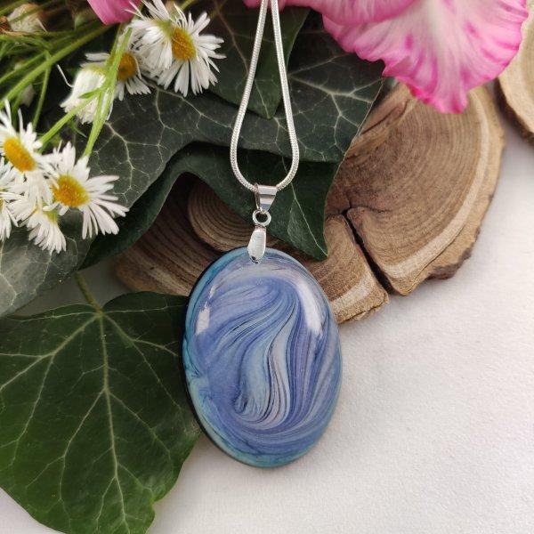 Blue waves ovális nyaklánc