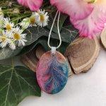 Rainbow rozetta ovális nyaklánc