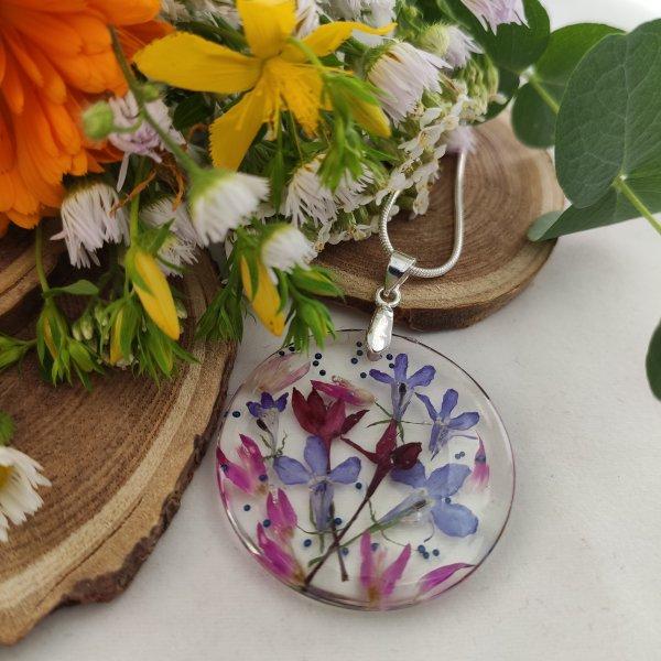 Purple meadow- bíbor rét nyaklánc